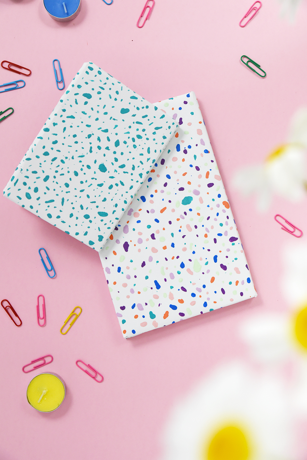 Diy Terrazzo Style Notebooks Enthralling Gumption